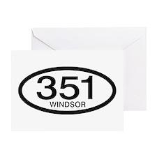 Vintage Ford 351 c.i.d. Windsor Greeting Card