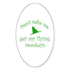 Flying Monkeys Oval Decal