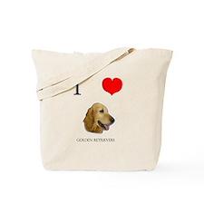 I Love Golden Retrievers Tote Bag