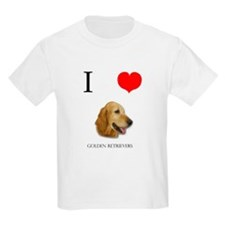 I Love Golden Retrievers T-Shirt
