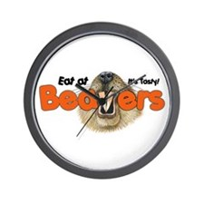 Eat At Beavers Wall Clock
