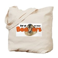 Eat At Beavers Tote Bag