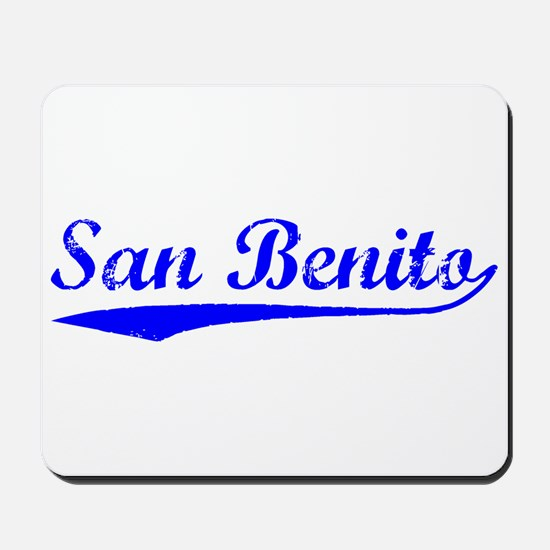 Vintage San Benito (Blue) Mousepad