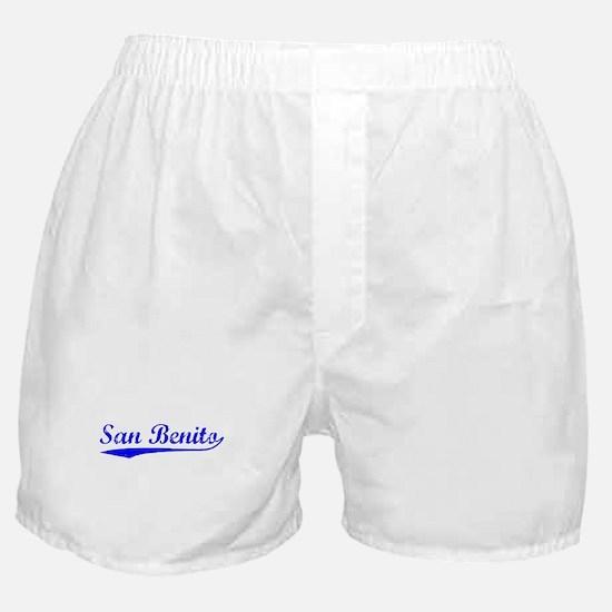 Vintage San Benito (Blue) Boxer Shorts