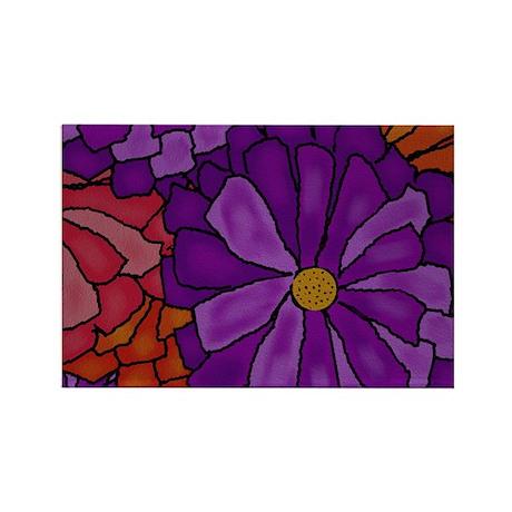 Gerber Daisy Bouquet Rectangle Magnet (10 pack)
