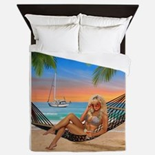 Happy Hour on the Beach Queen Duvet