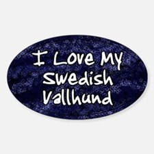 Funky Love Swedish Vallhund Oval Decal