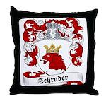 Schrader Family Crest Throw Pillow