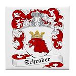 Schrader Family Crest Tile Coaster