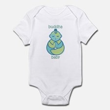 Om Buddha Baby : Blue & Green Infant Bodysuit