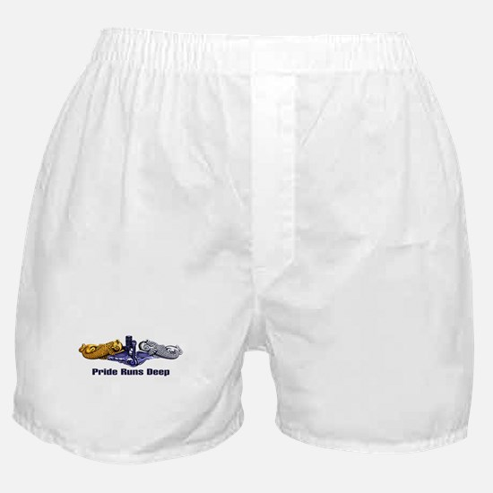 Pride Runs Deep-Gold/Silver Boxer Shorts
