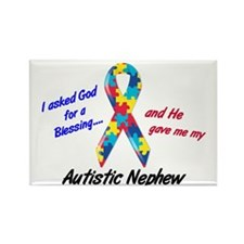 Blessing 3 (Autistic Nephew) Rectangle Magnet