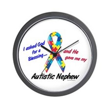 Blessing 3 (Autistic Nephew) Wall Clock
