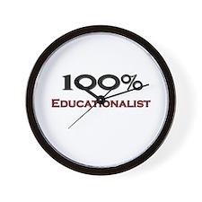 100 Percent Educationalist Wall Clock