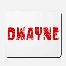 Dwayne Faded (Red) Mousepad