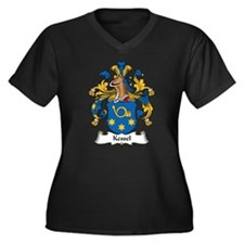 Kessel Family Crest Women's Plus Size V-Neck Dark