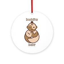 Happy Buddha Baby : Flesh Tones Ornament (Round)