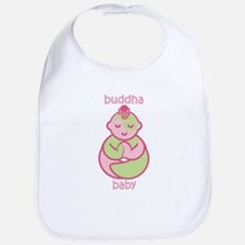 Happy Buddha Baby Girl : Pink & Green Bib