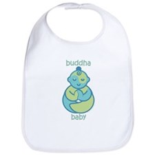 Happy Buddha Baby : Blue & Green Bib