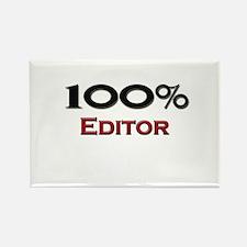 100 Percent Editor Rectangle Magnet