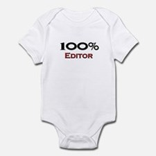 100 Percent Editor Infant Bodysuit