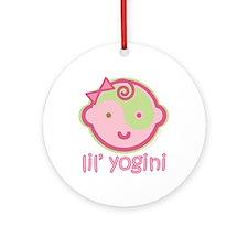 Lil' Yogini Ornament (Round)