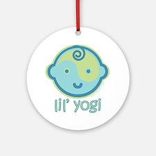 Lil' Yogi Ornament (Round)