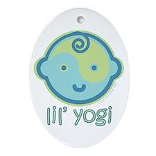 Lil' Yogi Oval Ornament