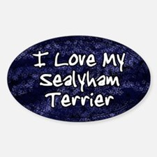 Funky Love Sealyham Terrier Oval Decal