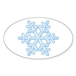 Flurry Snowflake XVIII Oval Sticker (10 pk)