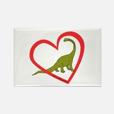 Heart Apatosaurus Rectangle Magnet