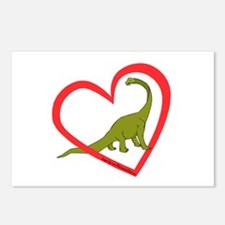 Heart Apatosaurus Postcards (Package of 8)