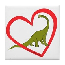 Heart Apatosaurus Tile Coaster