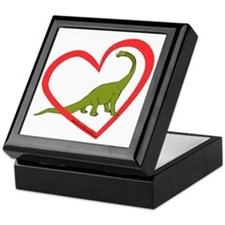 Heart Apatosaurus Keepsake Box
