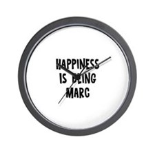 Happiness is being Marc Wall Clock