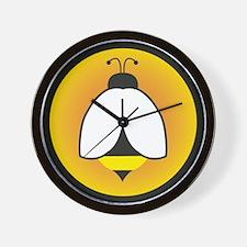 Gold Circle Bee Wall Clock