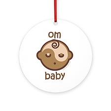 Om Baby : Flesh Tone Ornament (Round)
