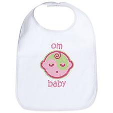 Om Baby : Pink & Green Bib