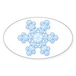 Flurry Snowflake XVII Oval Sticker (10 pk)