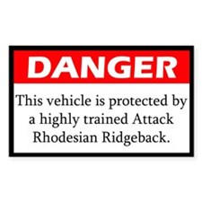 Attack Rhodesian Ridgeback Decal