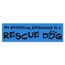 Rescue Dog Rhodesian Ridgeback Bumper Bumper Sticker
