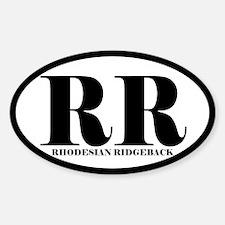 RR Abbreviation Rhodesian Ridgeback Decal