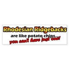 Potato Chips Rhodesian Ridgeback Bumper Bumper Sticker