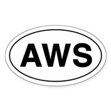 AWS Oval Bumper Stickers