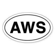 AWS Oval Decal