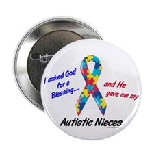 """Blessing 3 (Autistic Nieces) 2.25"""" Button (10 pack"""