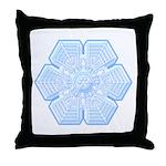 Flurry Snowflake XVI Throw Pillow