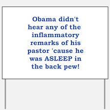 Obama's Pastor Yard Sign