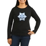 Flurry Snowflake XV Women's Long Sleeve Dark T-Shi