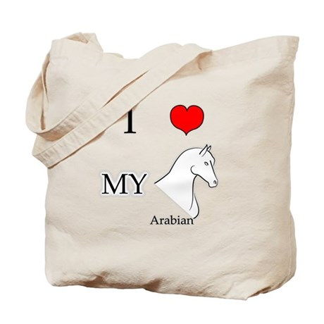 I Love My Arabian Horse Tote Bag